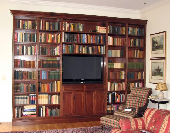Mahogany book shelf 9'x14'